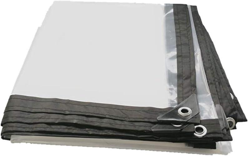 HCYTPL Rideau de Patio extérieur en Tissu imperméable à l'eau de Pluie imperméable d'épaisseur de bache Claire (Couleur  Transparent, Taille  3x4m),5  8m