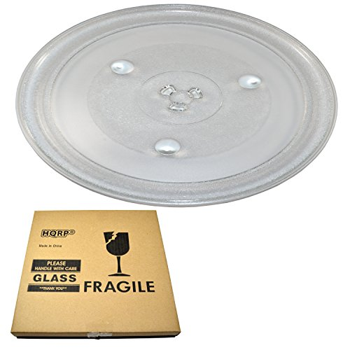HQRP 12-3/8 inch Glass Turntable Tray compatible with Emerson P34 MW1119 MW1161 MW1162 MW1337 MW1338 MWG9111 GA1000AP30P34 MWG9115 MW8117 MW8119 MW8992 MW9117 Microwave Oven Cooking Plate 315mm