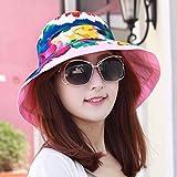 XINQING-MZ Delgado, la Tapa se Puede Plegar la Tapa Doble Cara Visor Femenino Playa Hat, escapadas románticas Cap paño Verde Pac Sun Cap, Color/B