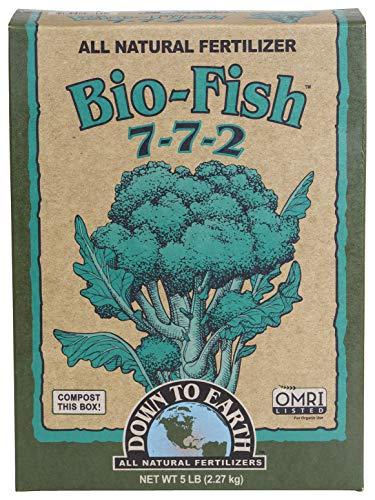 Down to Earth Organic Bio-Fish Fertilizer Mix 7-7-2, 5 lb