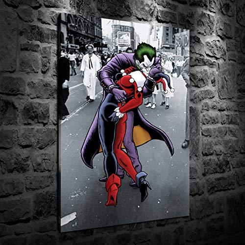 51qUaCbSKpL Harley Quinn Canvas Wall Art