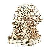 Noria, Rompecabezas De Madera 3D Mecánicos Kits Modelo Adolescentes Y Adultos Kits De Madera Cuentan Con La Noria De Puzzle En 3D Montado Sin Pegamento,1