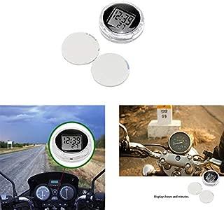 ALLOMN Mini Clocks for Motorcycle, Bicycle Handle Bar, Universal Waterproof Stick-on Digital Clock for Bike, Car,Boat