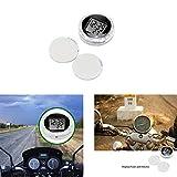TTAototech Digitale Uhr, tragbare universelle motorraduhren Uhr wasserdichte Uhr für Motorrad und elektrofahrzeug