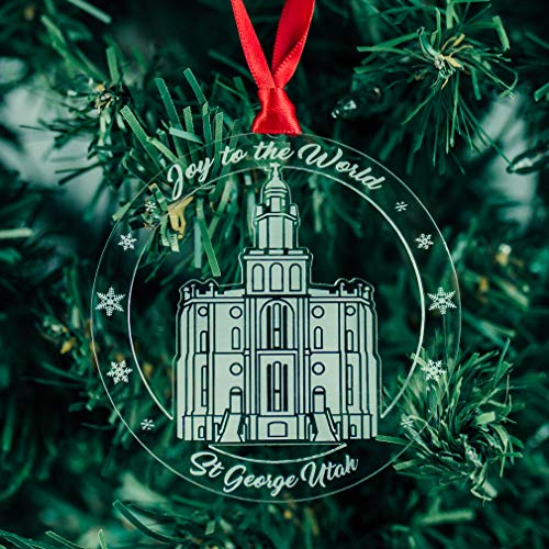 LDS St. George Temple Ornament - Acrylic