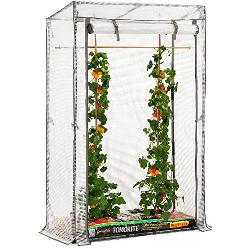 Christow Tomato Greenhouse With Reinforced Cover & Frame Garden Growhouse (Single Growbag)