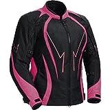 Juicy Trendz Motorcycle Motorbike Biker Cordura Waterproof Textile Jacket Pink