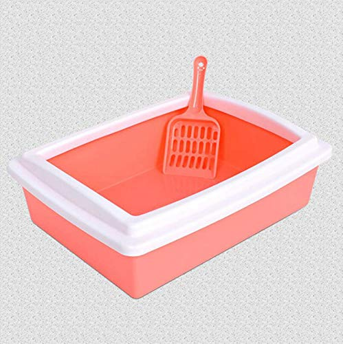 Axiba Huisdier toilet Kat toilet kat zandbak rechthoekige plastic kat doos kat kattenbak pot Kitty Potty 39.5x30.5x13cm, C