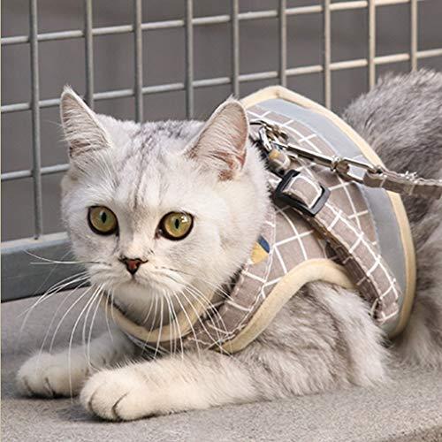 JIAN Hondenharnas en linnen set ademende katoenmix huisdier hond borstharnas hondenharnas vest en hondenriem kat hond borstband servies voor wandelen, hardlopen training