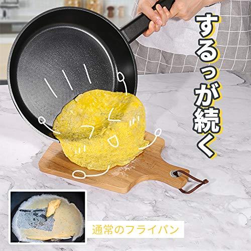 SKYLIGHTフライパンIHガス対応24cmスタイリッシュな片手鍋焦げ付きにくいチタン5層コーティング食器洗機でもOKギフトプレゼント