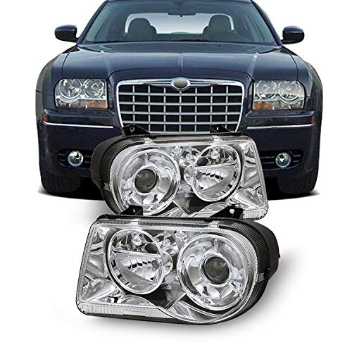 For 05-10 Chrysler 300C Replacement Projector Headlights 4805863Ah 4805862Ah LH RH Left side +Right side