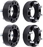 BRTEC 4pcs Wheel Spacers 2' Thick/6x5.5'' Pattern/Inner Diameter: 4.25'/108mm Fits 1997-2013 for Chevy Express/Silverado/Suburban; 2005-2012 for GMC Yukon/Sierra/Savana
