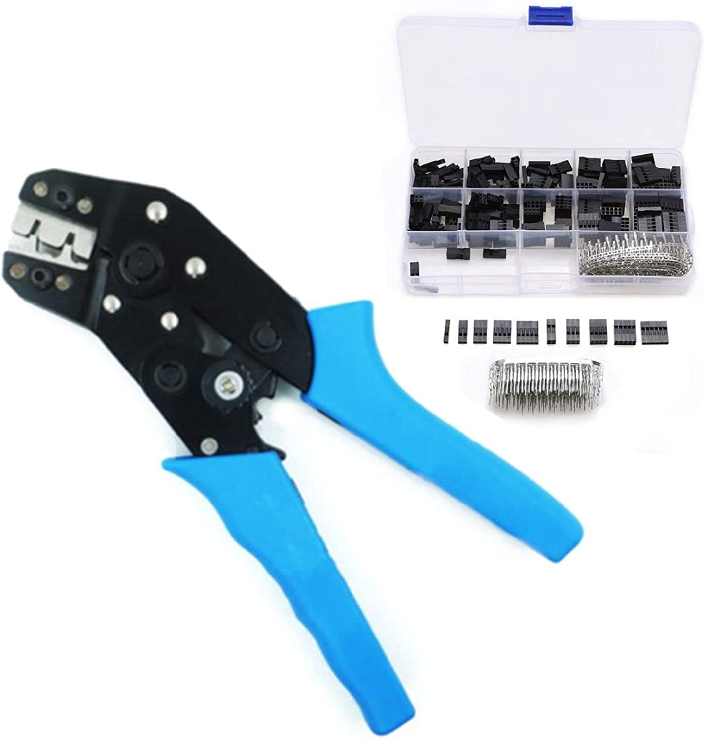 Mayitr Crimping Pliers 610pcs 2.54mm Electric Wire Jumper Housing Pin Connector Dupont Terminal Hand Tools