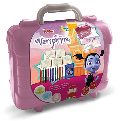Multiprint - reisstempelset, Vampirina in koffer, 81-delig