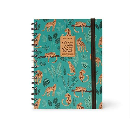 Legami Cheetah A5NOTS0021 - Cuaderno con espiral, hoja blanca, A5