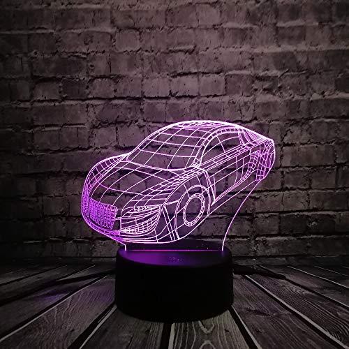 Supersportwagen model 3D LED licht USB 7 kleuren nachtlampje Cool Boy auto ventilator kamerdecoratie verjaardag kerstcadeau