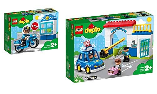 Steinchenwelt Lego Duplo Town 10900 - Set di 2 ruote della polizia + stazione di polizia 10902