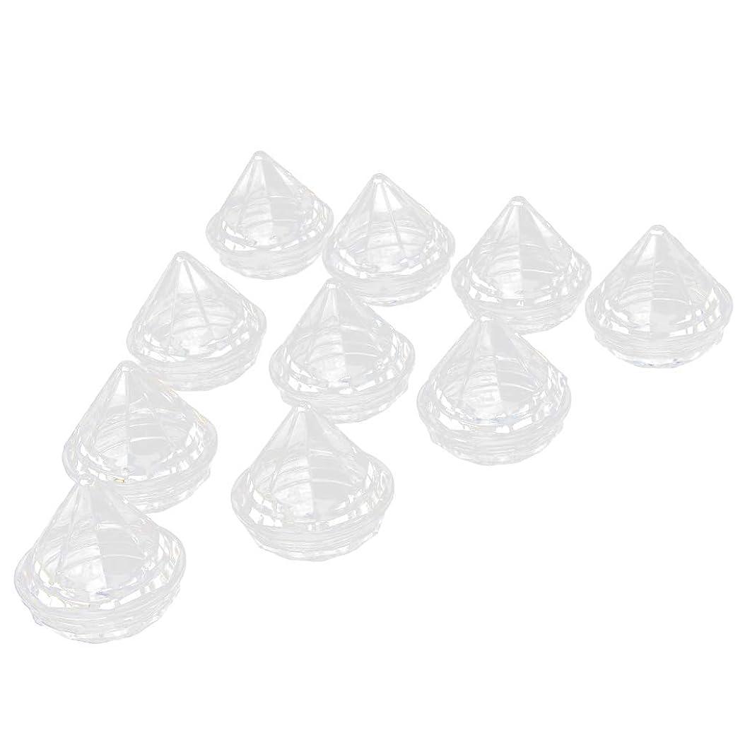 呪われた見る普及Perfeclan 10個 空ジャー クリームジャー ダイヤモンド型 クリア リップクリーム コスメ容器
