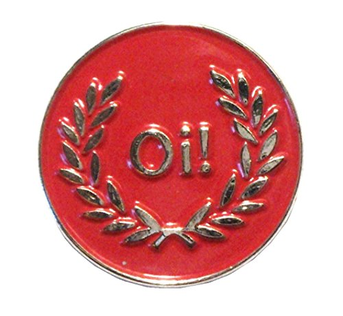 Red Oi! Laurel Skinhead MOD Scooter Rider Metall Emaille Badge