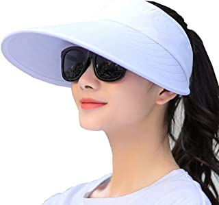 c3d794835d38c Sun Visor Hats Women Large Brim Summer UV Protection Beach Cap