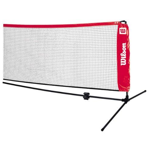 Wilson Mobiles Tennisnetz, Starter Ez Tennis Net, Länge 6,1 m, rot, WRZ259700