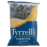 Tyrrells Solchi Mano Cotto Patatine Inglese - Mare Salato (150g) (Confezione da 2)