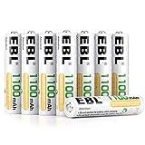 EBL 8pcs AAA Piles Rechargeables 1100 mAh 1.2V...