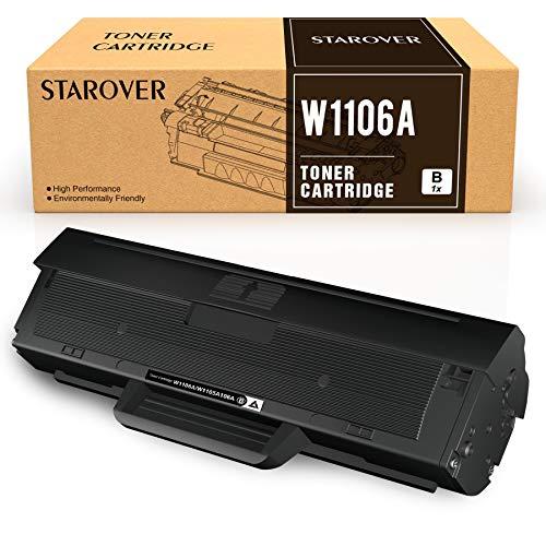 STAROVER Compatibile per Cartucce Toner HP 106A W1106A Sostituzione per HP Laser 107a 107w 107r Stampante HP Laser MFP 135a 135w 135r 135wg137fnw 137fwg (1 Nero, con Chip)