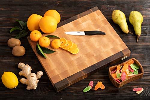 MTM WOOD Tagliere da cucina in legno di betulla e noce, End Grain, taglieri di dimensioni diverse e di spessore 3 e 4 cm, ideale per tagliare carne, verdure, pesce, pane (40 x 30 x 4 cm)