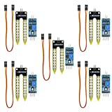 KeeYees 5 Pcs High Sensitivity Soil Moisture Sensor Module with Female to Female Jump Wires, Sensor Module Watering System Manager for Arduino