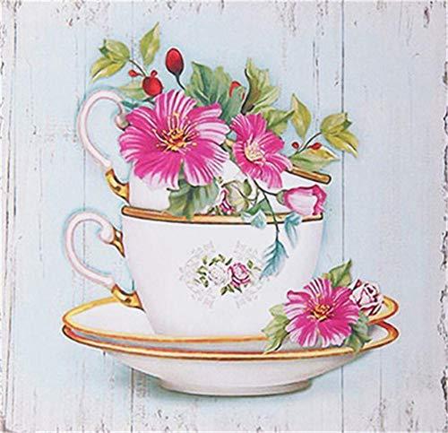 DIY 5D Kit de Pintura de Diamante Conpleto flor Diamond Painting Craft del Imịtạciòn de Bordado de Punto para Salones o dormitorios para decoraciòn Navịdad 25x25cm A1078