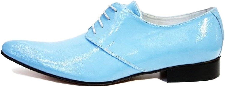 new styles c93d8 009c7 Lackleder - Schnürhalbschuhe Abendschuhe Oxfords Blau Herren ...