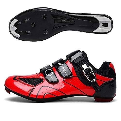 LU-Model Master MTB Fahrradschuh, mit Carbon-Sohle, aus Einem Stück Mikrofaser, ohne Nähte. Mikrofasern super atmungsaktiv und widerstandsfähig Red-42