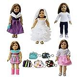 ZITA ELEMENT 6 PCS Puppensachen für 43cm 45cm 46cm Babypuppen und American 17-18 Zoll Girl Doll...