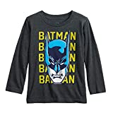 Jumping Beans Toddler Boys 2T-5T Batman Mask Graphic Tee 3T Charcoal Heather