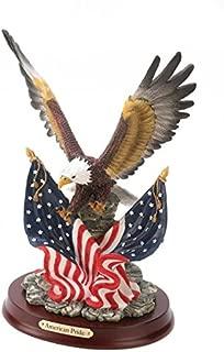 Eagle Sculpture on Wood Base - Style 32419