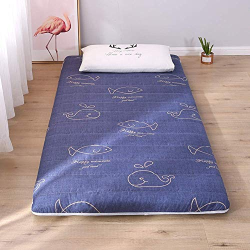 REXUN Mattress Pad Thicken Folding Tatami Mattress for Home, Floor, Student Dormitory, Bed,B,100x200cm(39x79inch)