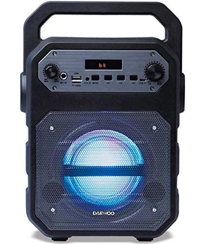 Daewoo Electronics - Altavoz Portátil Daewoo Dsk-345 Negro Bluetooth Y Karaoke