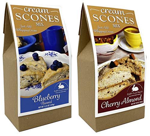 Rabbit Creek Scone Mix Variety Pack of 2 – Blueberry and Cherry Almond Cream Scone Mix