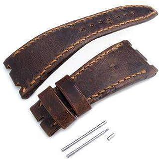 Cinturino cinturino marrone scuro cinturino cinturino cinturino in vera pelle d'arte, filo di cera marrone, realizzato su ...