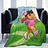 Sunny Rainy Day Dora The Explorer Blankets Super Soft Warm Faux Fur Throw Blanket -Ultra-Soft Micro Fleece Blanket Twin, Warm, Lightweight