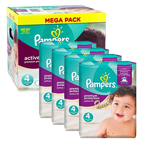 Couches Pampers - Taille 4 active fit premium protection - 504 couches bébé