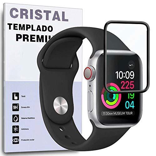 REY Protector de Pantalla Curvo para Apple Watch Series 1 42mm, Negro,...
