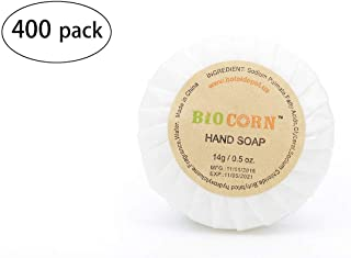 BIO CORN Bar Soap, Travel Size Hotel Amenities, 0.5oz/14g (Pack of 400)