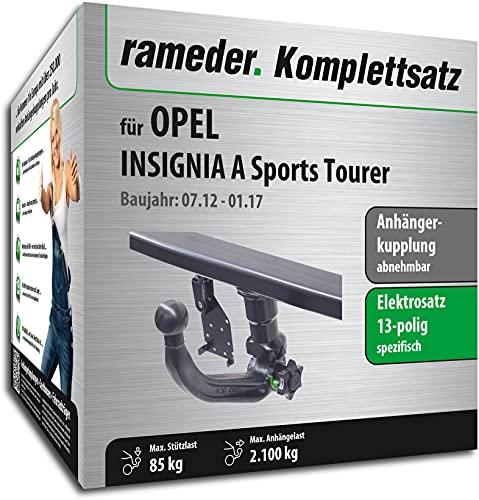 Rameder Set, Anhängerkupplung abnehmbar + 13pol Elektrik kompatibel für OPEL Insignia A Sports Tourer (143085-07861-1)