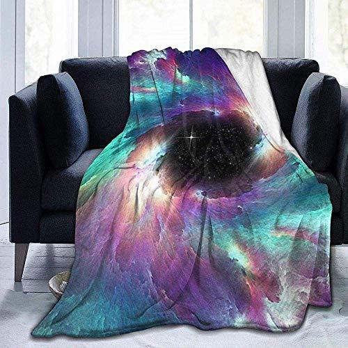 Mantas, de fácil cuidado, forro polar súper cálido, suave, versátil, manta impresa con patrón de cielo estrellado, para dormitorio, sala de estar, sofá cama, sofá de 152 x 127 cm