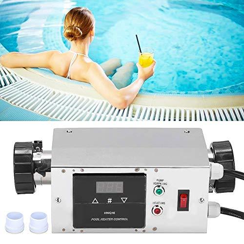 LuShuMaDa Poolheizung für Schwimmbad, wasserdichte Spa-Elektroheizung Digitaler Thermostat Temperaturregler für heiße Kaltbad-Whirlpools Pool-Planschbecken-Heizung