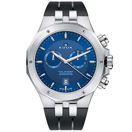 Edox Delfin The Original Reloj de Hombre Cuarzo Suizo 43mm 10110 3CA BUIN