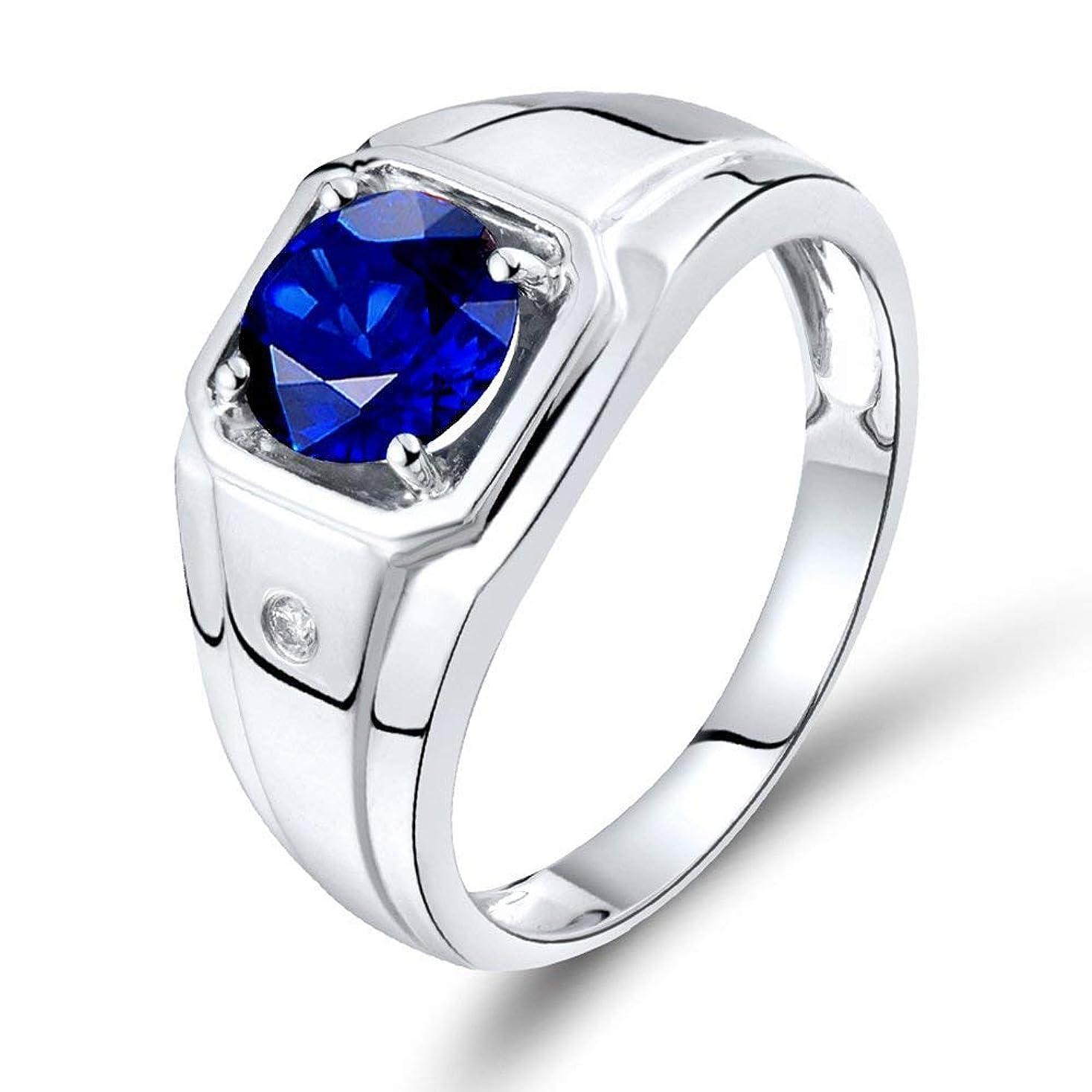 理解が欲しいコミットメントLanmi 【鑑別書付】計1.41ct 天然 サファイア 結婚指輪 メンズ Pt900 プラチナ リング 9月誕生石 (10)