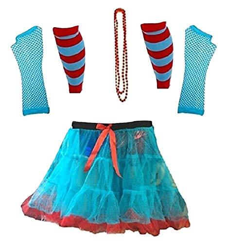 Momo&Ayat Fashions Dames Dingen Rood Turkoois Thema 1 & 2 Boek Week Kostuum- Pick & Mix